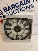 Metal Skeleton Wall Clock RRP £35