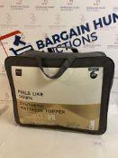 Feels Like Down Synthetic Mattress Topper, King Size RRP £95
