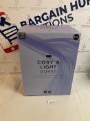 Cosy & Light 10.5 Tog Duvet, Super King RRP £59