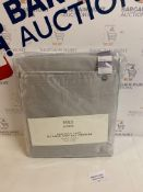 Blackout Lined Textured Faux Silk Pencil Pleat Curtains RRP £89