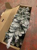 6 FT Lit Snowy Christmas Tree