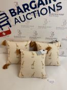 Pure Cotton Mini Embroidered Cushion, Set of 3
