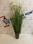 Artificial Tall Grass with White Flowers RRP £35