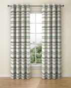 Lined Triangle Chenille Eyelet Curtains RRP £89