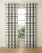 Lined Chenille Triangle Eyelet Curtains RRP £149