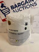 Microfibre Synthetic 10.5 Tog Duvet, Double