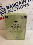 Anti Allergy 4.5 Tog Duvet, King Size RRP £49.50