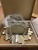 Sunburst Large Round Mirror RRP £129