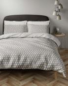 Easycare Cotton Blend Spotty Bedding Set, Double