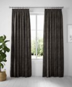 Velvet Pencil Pleat Curtains RRP £149