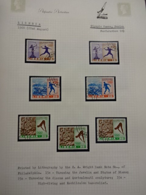 Lot 28 - 2 folders of stamps relating to the Olympics and Aquatic activity's
