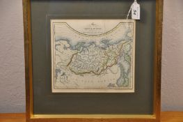 """Map of Russia and Asia - James Duncan 6 1/2"""" x 7 1/2"""""""