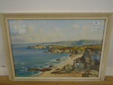 "? G Trenney Watercolour Sandy bays signed bottom left 21 x 14"""