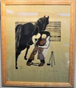 """Etching - """"The Farrier - Ian"""""""