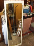 Retro Wall Mirror 19 x 56 inches with original screws with brass covers