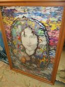 Mystical Picture and Indian Girl Wall Hanging