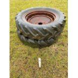 12.4,11-28 Massey Wheel rims & tyres