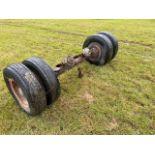 taskers lowloader axle 8 stud 750c 15 wheels