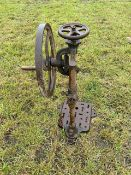 Vintage hand-operated bench drill