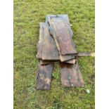 Quanity of timber rough sawn planks