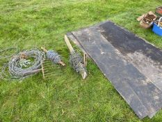 Barbed wire mat etc