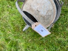 Galvanised buckets and watering can