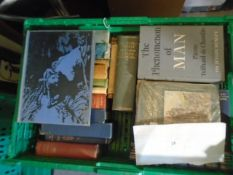 Crate of books to incl Churchill - World Crisis Volume 1, Odhams press