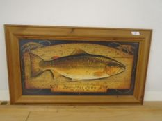 Framed picture of Brown Trout