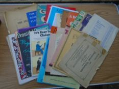 Collection of vintage sheet music and piano booklets