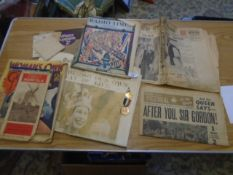 Mixed lot to incl original magazines and papers from 1937 and 1953 relating to the Royal Family plus