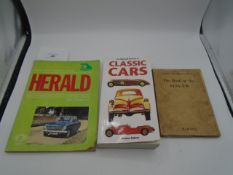 Haynes Triumph Herald all models 1959-71 owners handbook/maintenance manual, Pitmans 'Book of the
