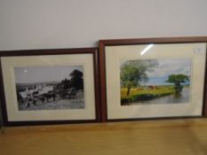 Framed photos of the River Yar and a Broadland scene (2)