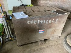 A metal chemical storage box