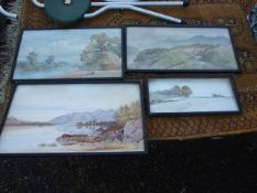 4 Watercolours ( largest 18 x 10 inches )