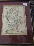 Map of Staffordshire 10 x 7 1/2 inches