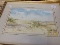Brenda Dawkin Seashore Watercolour 30 x 20 inches