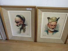 2 oil paintings made for the tourist trade in Tehran, Iran at Hayrapetyan Art Gallery both signed