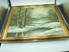 """Barbara Shaw """" Rivenwharfe """" oil on board 29 x 24 cm and Oil on Canvas 30 x 40 cm unsigned"""