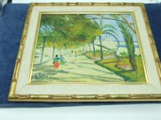 Signed Oil on Canvas 1950s ? 13 x 11.5 inches