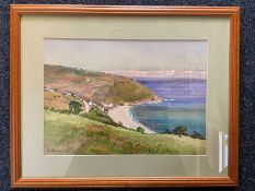 signed watercolour 33cm x 23.5cm opening glazed and framed (46cm x 36.5cm) signed bottom left E L