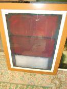 "Mark Rothko print "" untitled 1960 "" San Francisco Museum of Modern Art 26 x 33.5 inches"