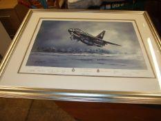 "Framed Limited Edition Signed Print "" Lightning "" Michael Rondot 266/300"
