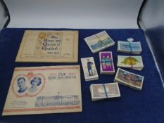 Cigarette card books 'Our King and Queen' and 'The Kings and Queens of England 1066-1935' plus
