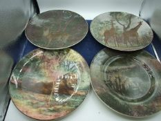 4 Royal Doulton Africa Series Plates and Doulton Dickens Plate