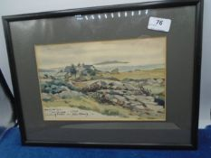 """John Avery watercolour of Murray Lodge, Connemara, signed and dated 10"""" x 6.5"""""""