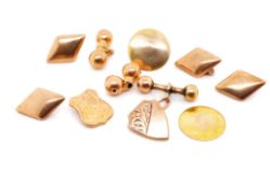 Antique 9ct rose gold jewellery parts