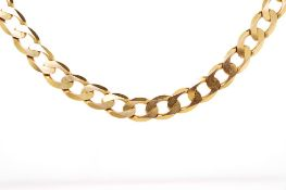 9ct rosey gold 7mm curb link bracelet