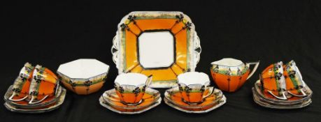Art deco Shelley Queen Anne teaset
