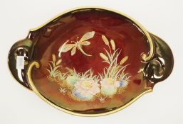 Vintage Carlton Ware 'Dragon Fly' serving plate