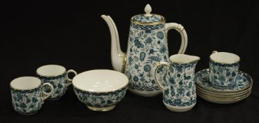 Vintage Royal Crown Derby part coffee set